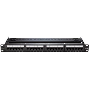 D-Link NPP-6A1BLK242 Cat6A Keystone 24 Port Patch Panel